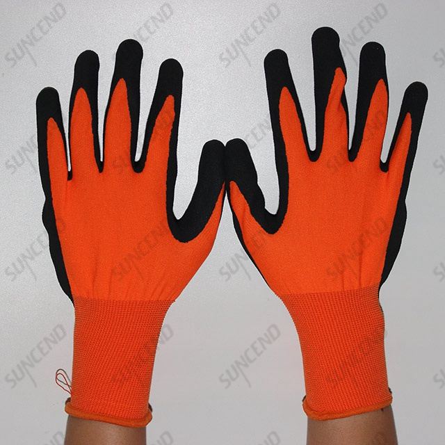 Latex Coated Sandy Finish Work Gloves