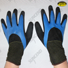 Nylon liner full latex coated palm sandy finish work gloves