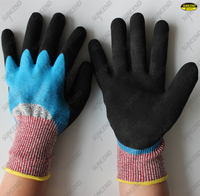 Cut resistant HPPE liner guantes nitrilo double coated soft foam nitrile gloves