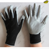 Nitrile coated smooth palm safety work gloves