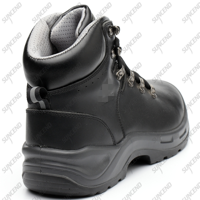 Zapatos De Seg anti-puncture steel toe cap PU injection safety shoes
