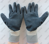 Heavy duty waterproof double full coated foam latex gloves