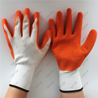 Suncend 13 gauge polyester latex crinkle firm grip safety work gloves