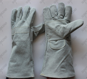 Leather welding working glove