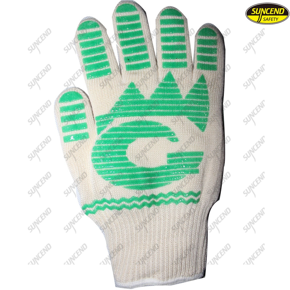 Heat Resistant BBQ Aramid Cooking Silicone Grill Gloves