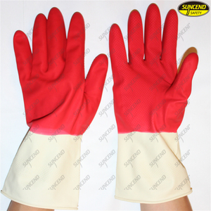 Custom logo hand protection long black latex household gloves