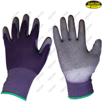 PVC dotted PU palm coated safety cotton gloves
