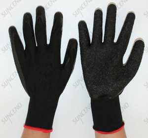 Customized Work Gloves Qingdao Factory Best Price Latex Palm Coated Glove