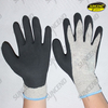 Plam and thumb nitrile coated sandy finish work gloves