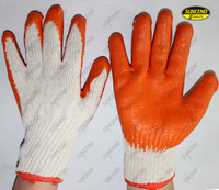 Comfortable smooth latex coated mechanic work gloves