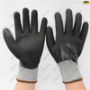 Acrylic warm waterproof full coated double black sandy nitrile winter