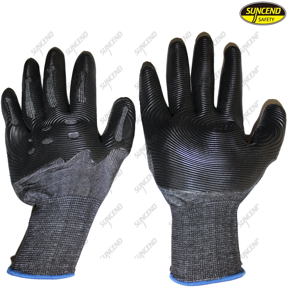 TPE Dipped Anti Vibration Oil Resistant Impact Gloves