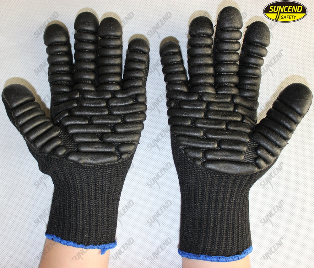 Anti vibration mechanic forestry work safety protective gloves