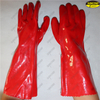 Waterproof smooth pvc coated hand protection gloves