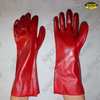 Red PVC fully dipped gauntlet work gloves